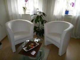 Sitzecke Weiß, Cornelia Andes, Hypnose Praxis Kaiserslautern